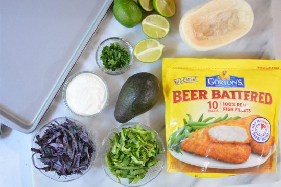 Easy Fish Tacos made with Gorton's Beer Battered Fish Fillets