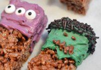 Easy Halloween Treats – Frankenstein Krispy Treats