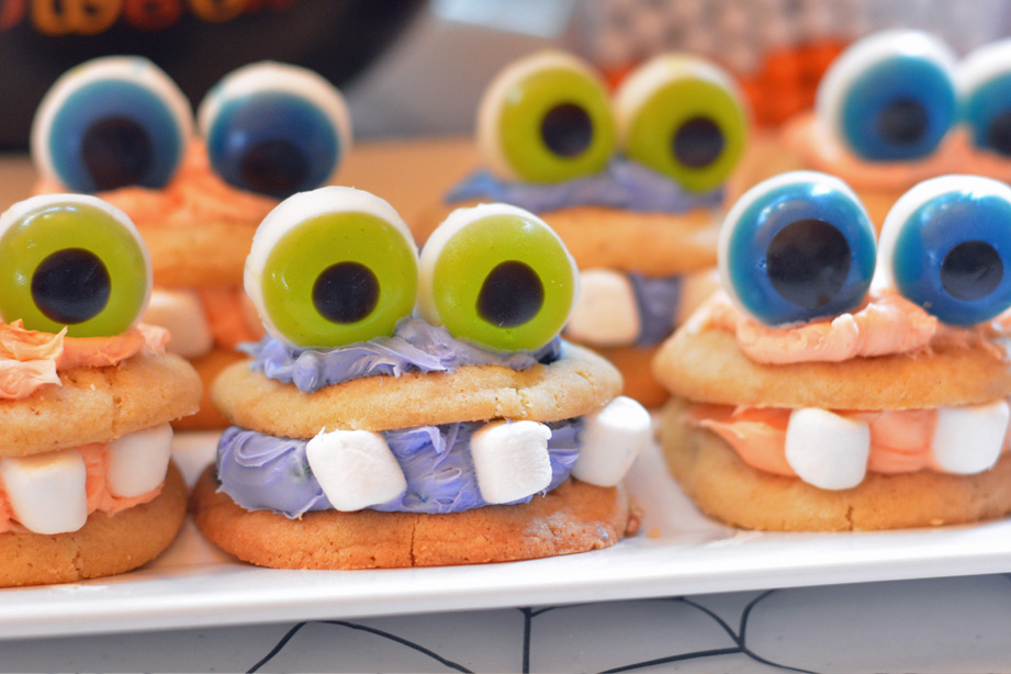 monster cookies are an easy halloween dessert