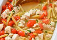 Tomato Basil Pasta with Chicken