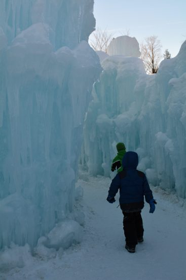 Inside the Ice Castles
