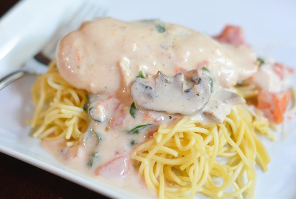 crock pot creamy garlic chicken