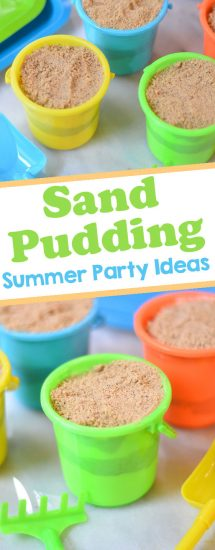 sand pudding beach themed party snack