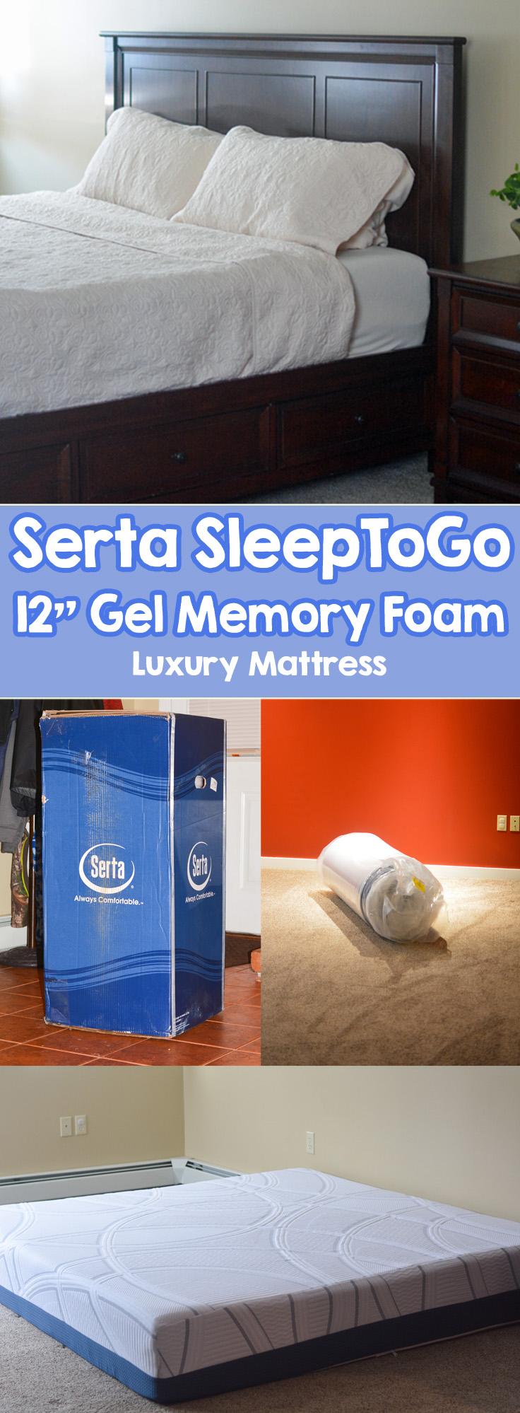 best bed in a box serta luxury 12 gel memory foam mattress