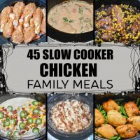 roundup of 45 slow cooker chicken recipes