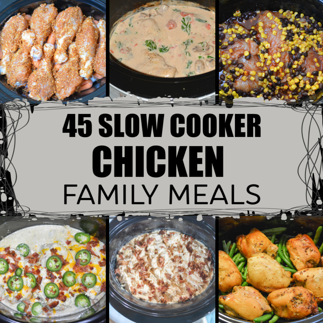 45 slow cooker family meals | easy weeknight crockpot recipes