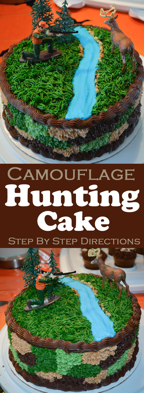 Wondrous Hunting Cake Hunting Birthday Party Ideas And Camouflage Cake Funny Birthday Cards Online Overcheapnameinfo