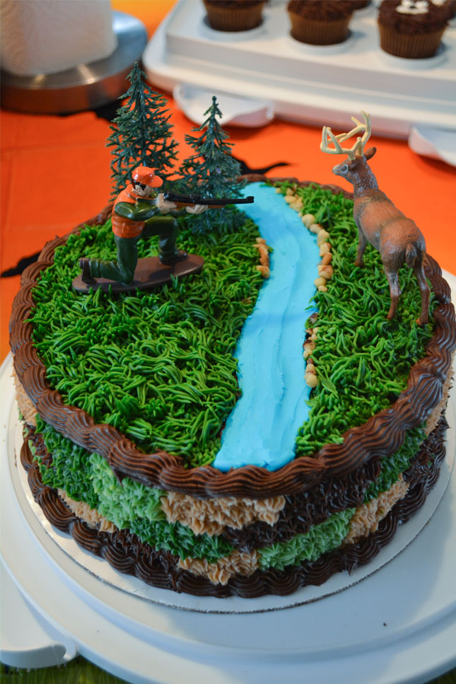 Astonishing Hunting Cake Hunting Birthday Party Ideas And Camouflage Cake Personalised Birthday Cards Veneteletsinfo