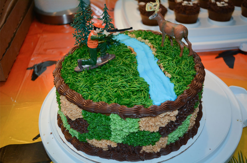 Hunting Cake - Hunting Birthday Party Ideas and Camouflage Cake
