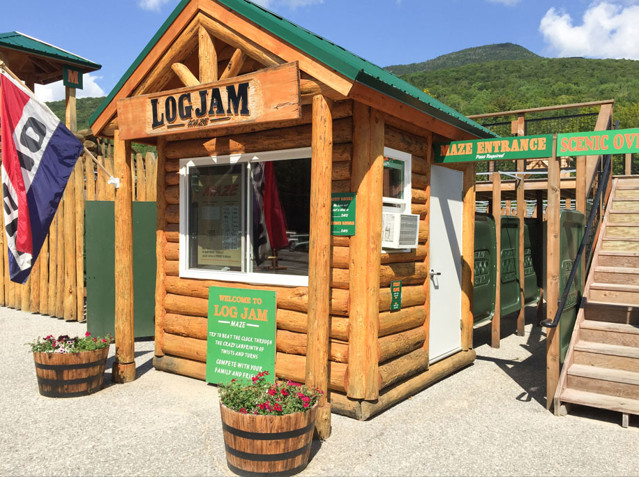 loon mountain log jam maze
