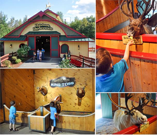 santas village reindeer