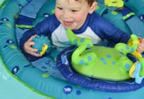 Teach Baby To Swim With SwimWays Baby Spring Float