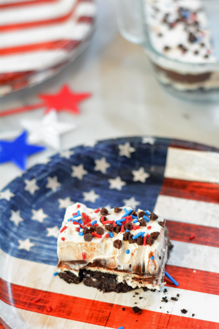 4th of july pudding