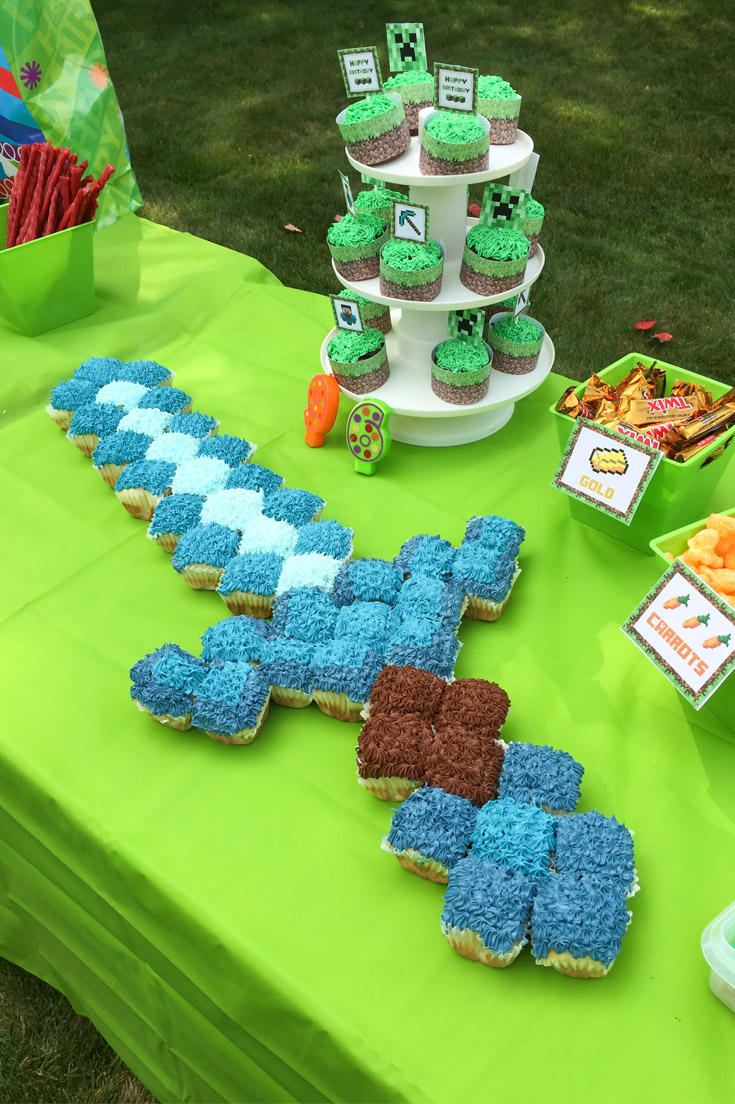 Minecraft sword template for cake