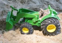Outdoor Fun With John Deere Monster Treads Tractor with Wagon and Loader
