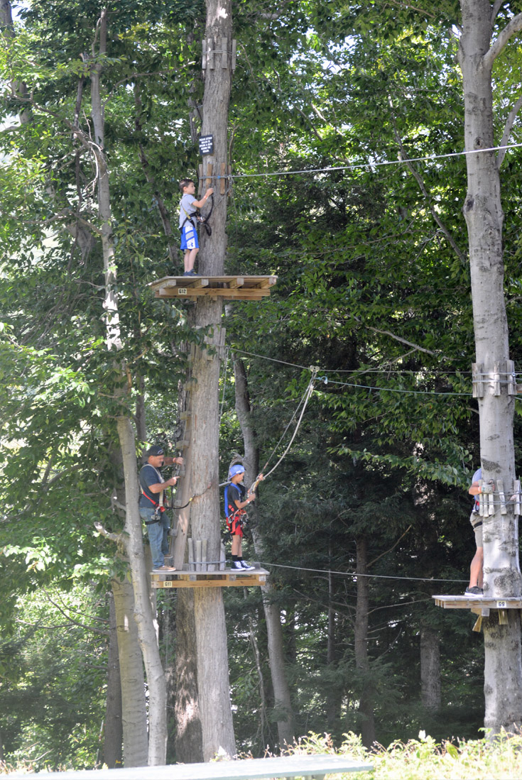 aerial ropes course new hampshire white mountains