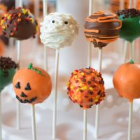 pumpking cake pops