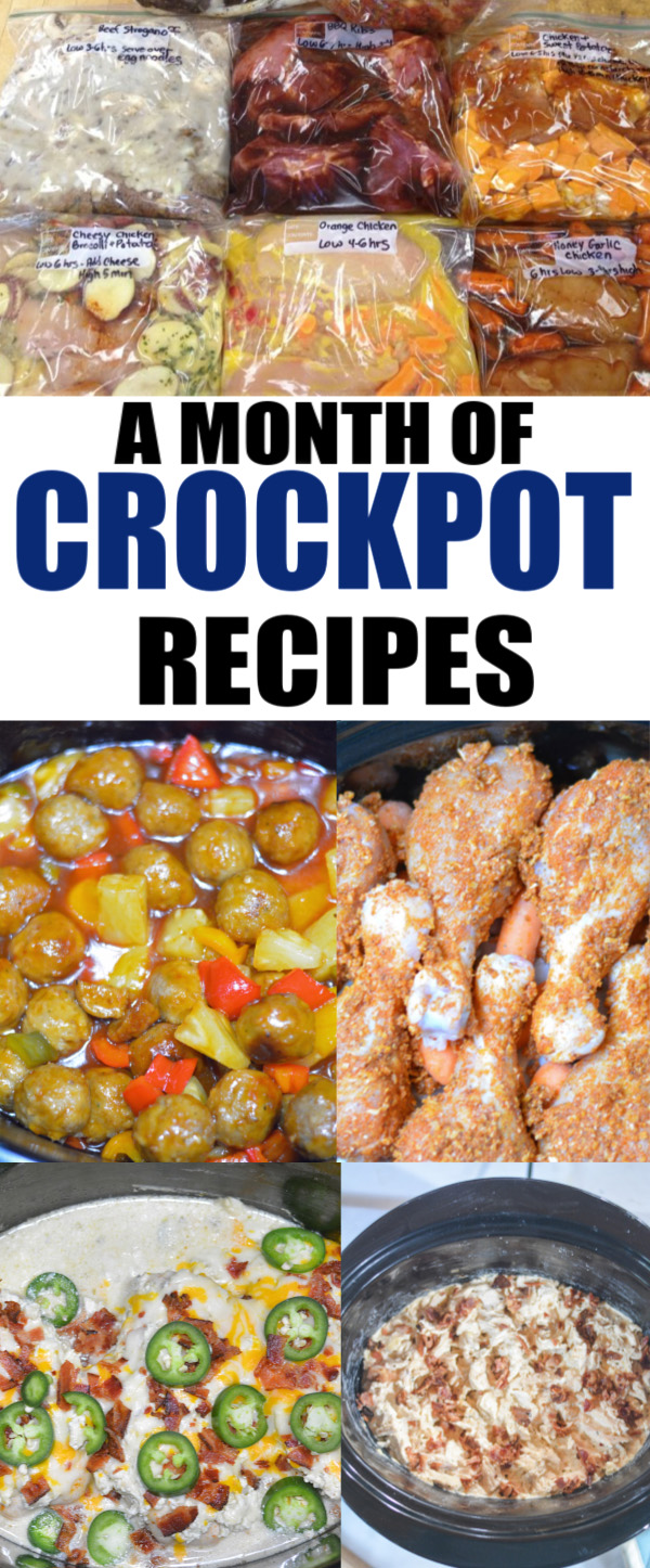month of crockpot meals