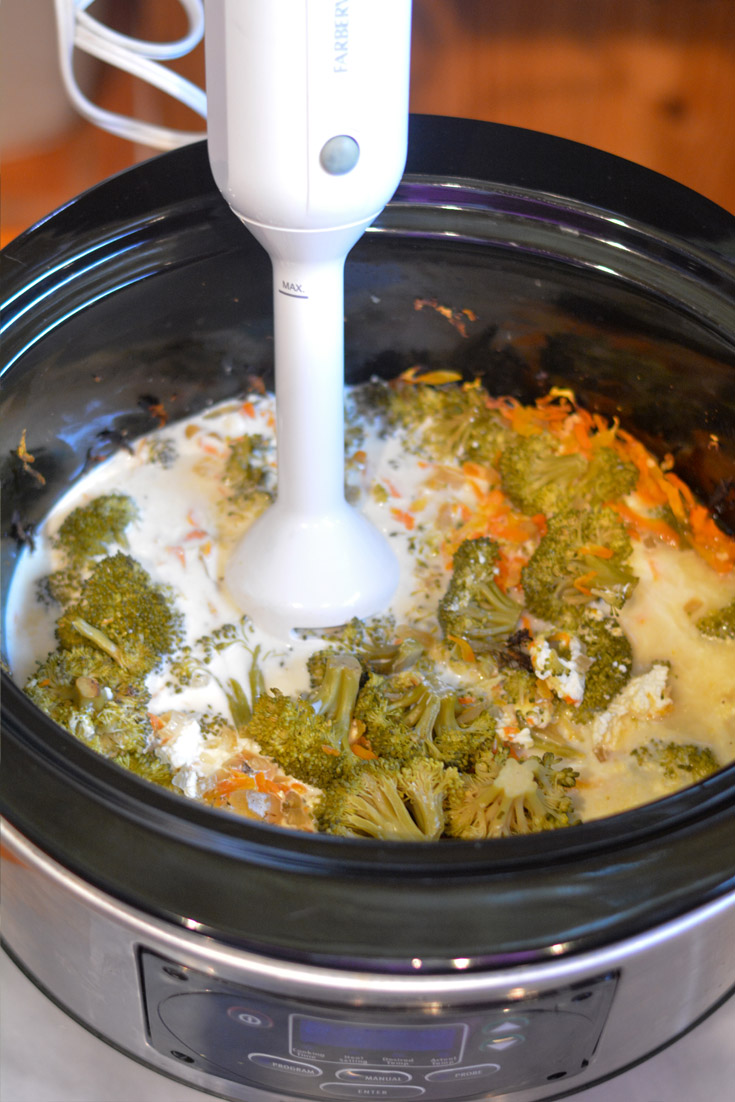 Crockpot Broccoli Cheese Soup ingredients