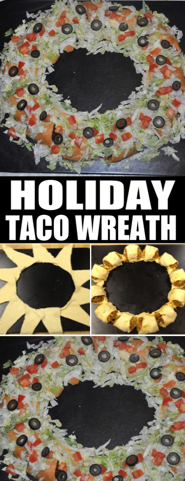 taco wreath holiday appetizer