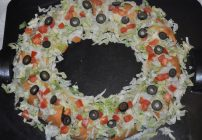 Taco Wreath – Made with Ground Beef or Chicken