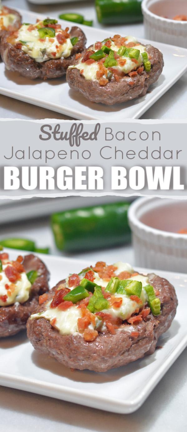 Bacon Jalapeno Cheddar Bunless Burger Bowl