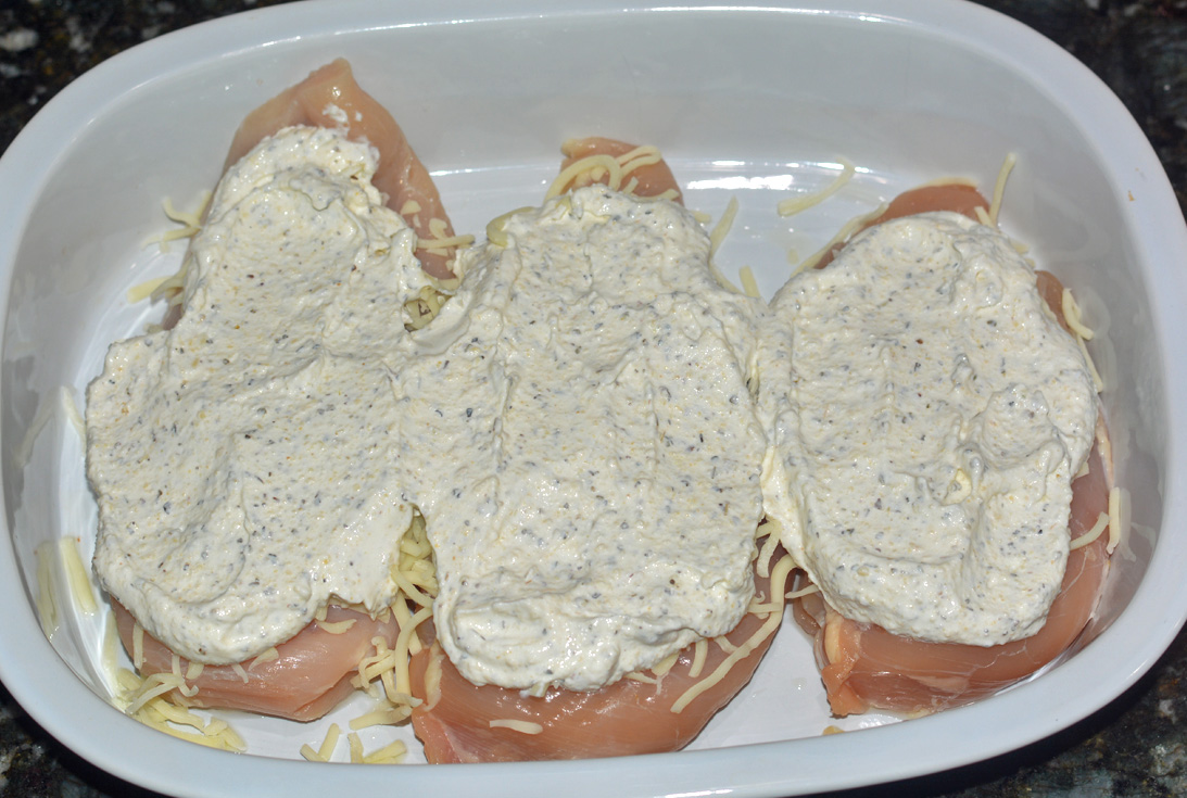chicken breast topped with sour cream sauce