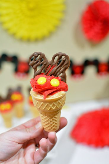 Mickey Mouse chocolate cupcake toppers