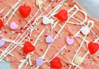 Valentine's Day Bark With Conversation Hearts