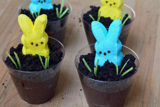 Easter Dirt Cake Cups with PEEPS