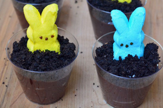 Easter Dirt Cake in individual cups
