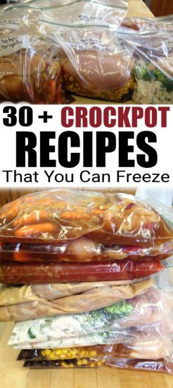 crockpot freezer meals in bags
