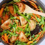 20 Minute Vegetable Dumplings Stir Fry