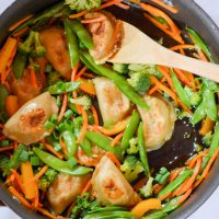20 Minute Vegetable Dumplings Stir Fry
