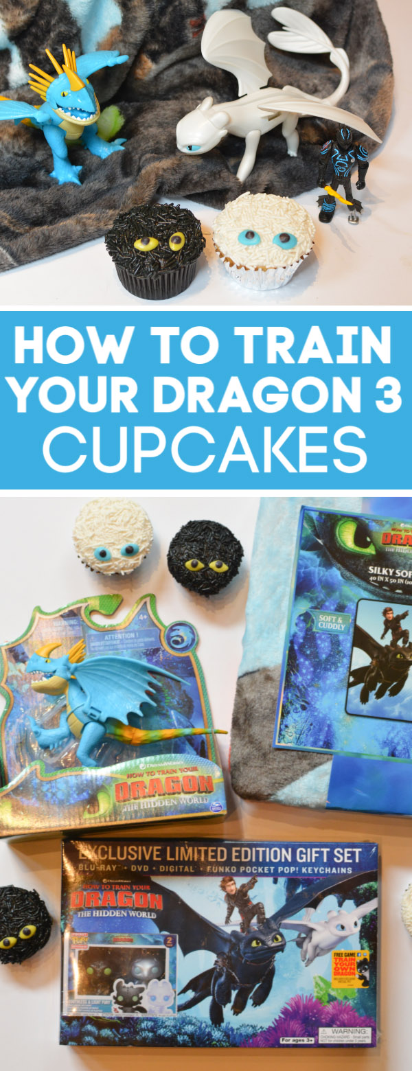 how to train your dragon 3 cupcakes