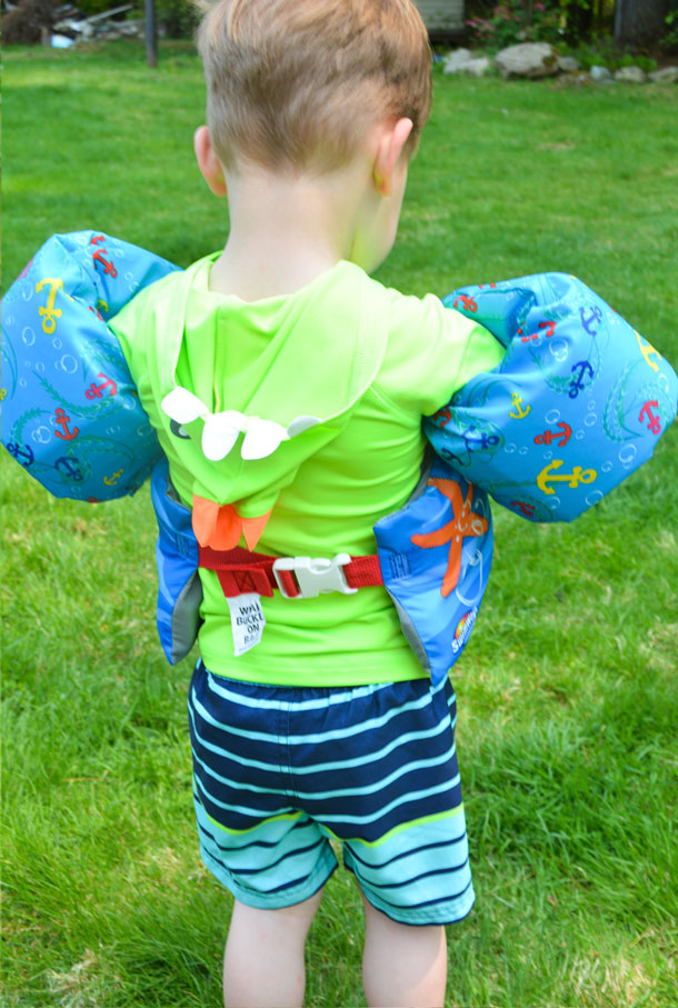 paw patrol swim vest back view