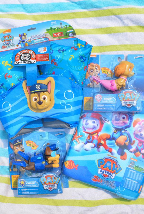 paw patrol swimming toys
