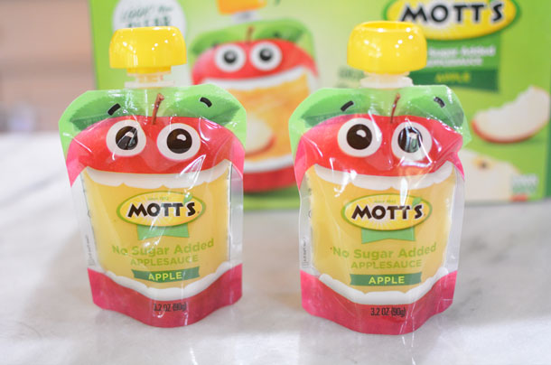 motts no sugar added applesauce pouch