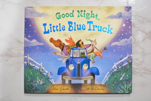 good night little blue truck book