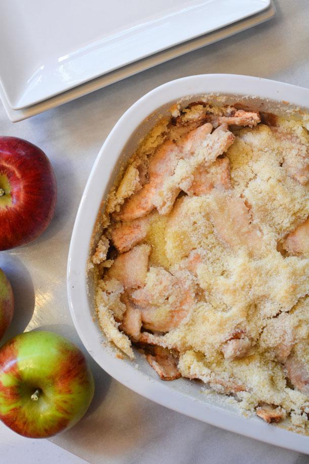 grandas apple crisp no oats