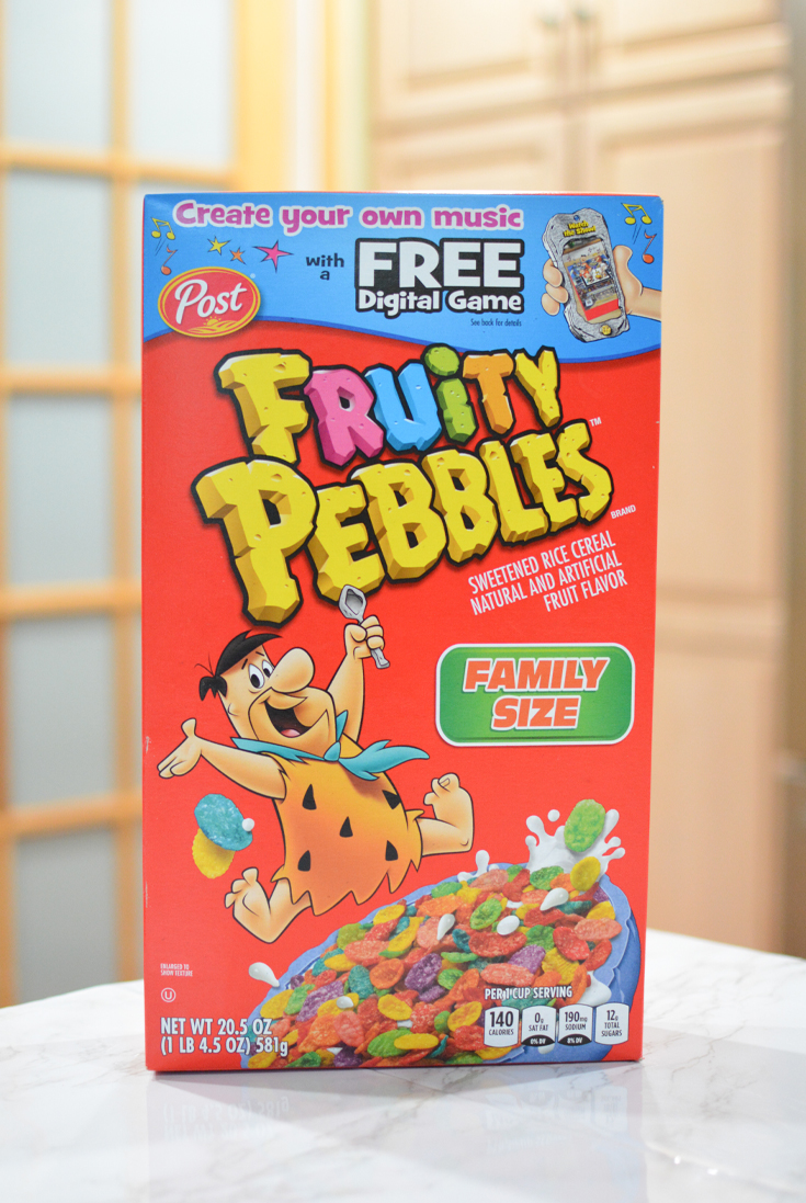 box of Fruity PEBBLES