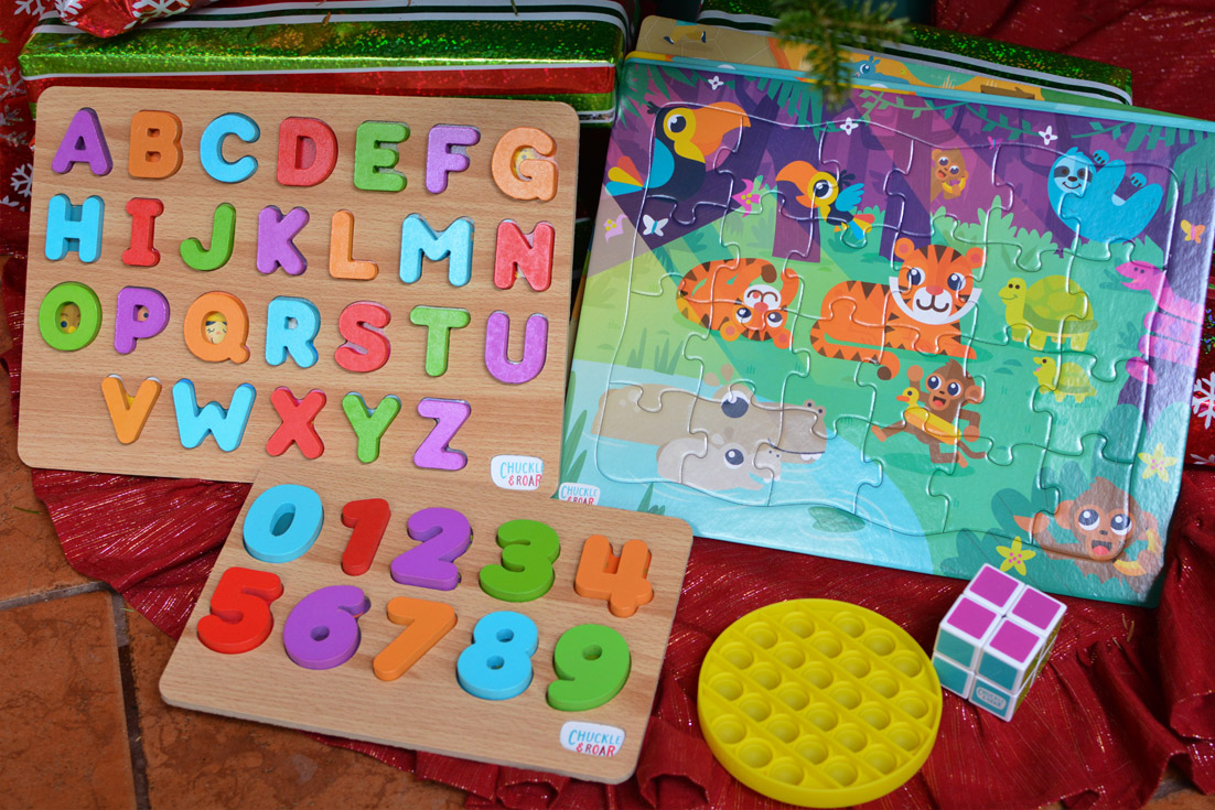 letter and abc wooden chunk puzzles