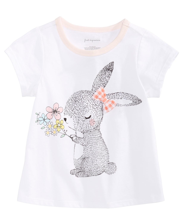Toddler Girls Bunny-Print Cotton T-Shirt