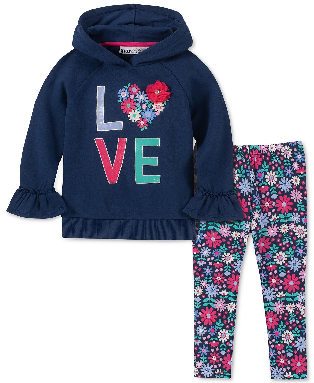Love Hoodie & Floral-Print Leggings