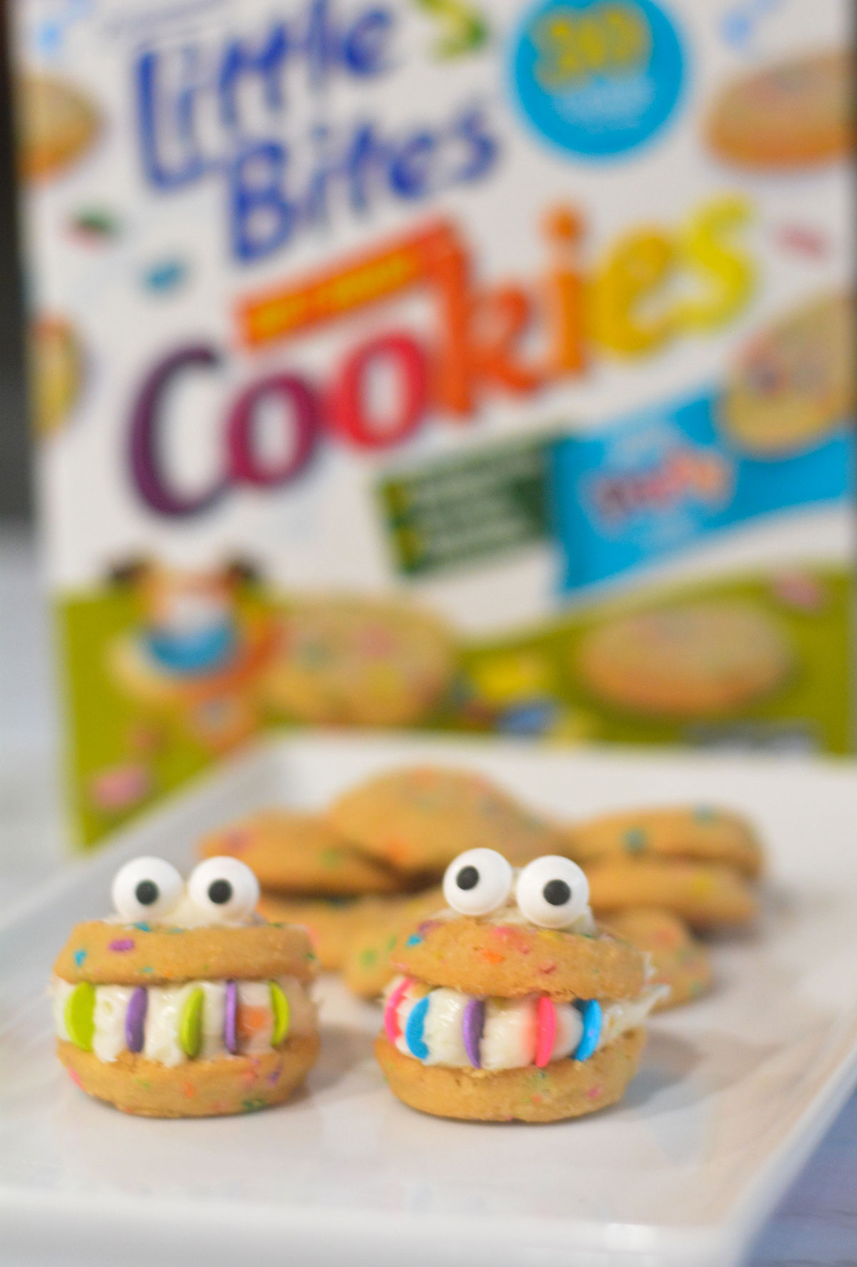 Monster Cookies with 2 Cookies and Frosting