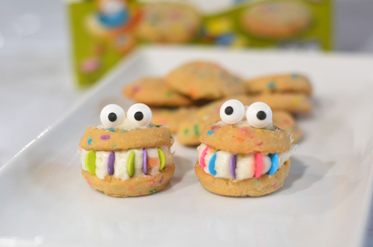 Party Cake Monster Cookie Sandwich