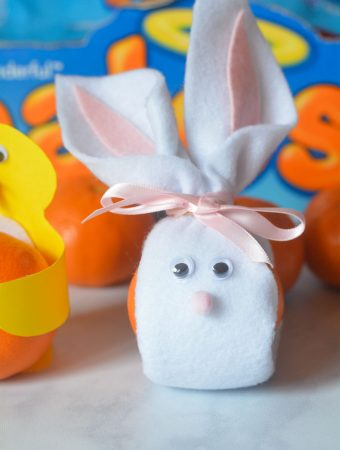 Halos Mandarins decorated as Easter Bunny