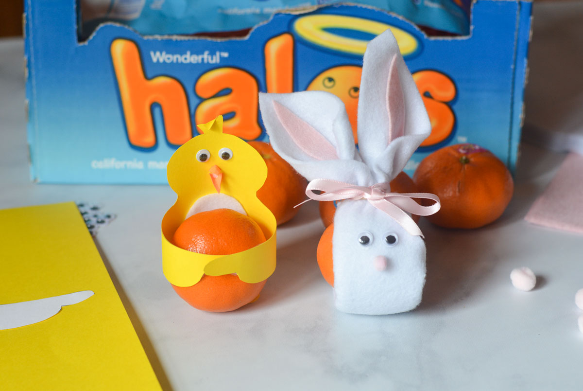 Halos Mandarins Easter Chick and Bunny
