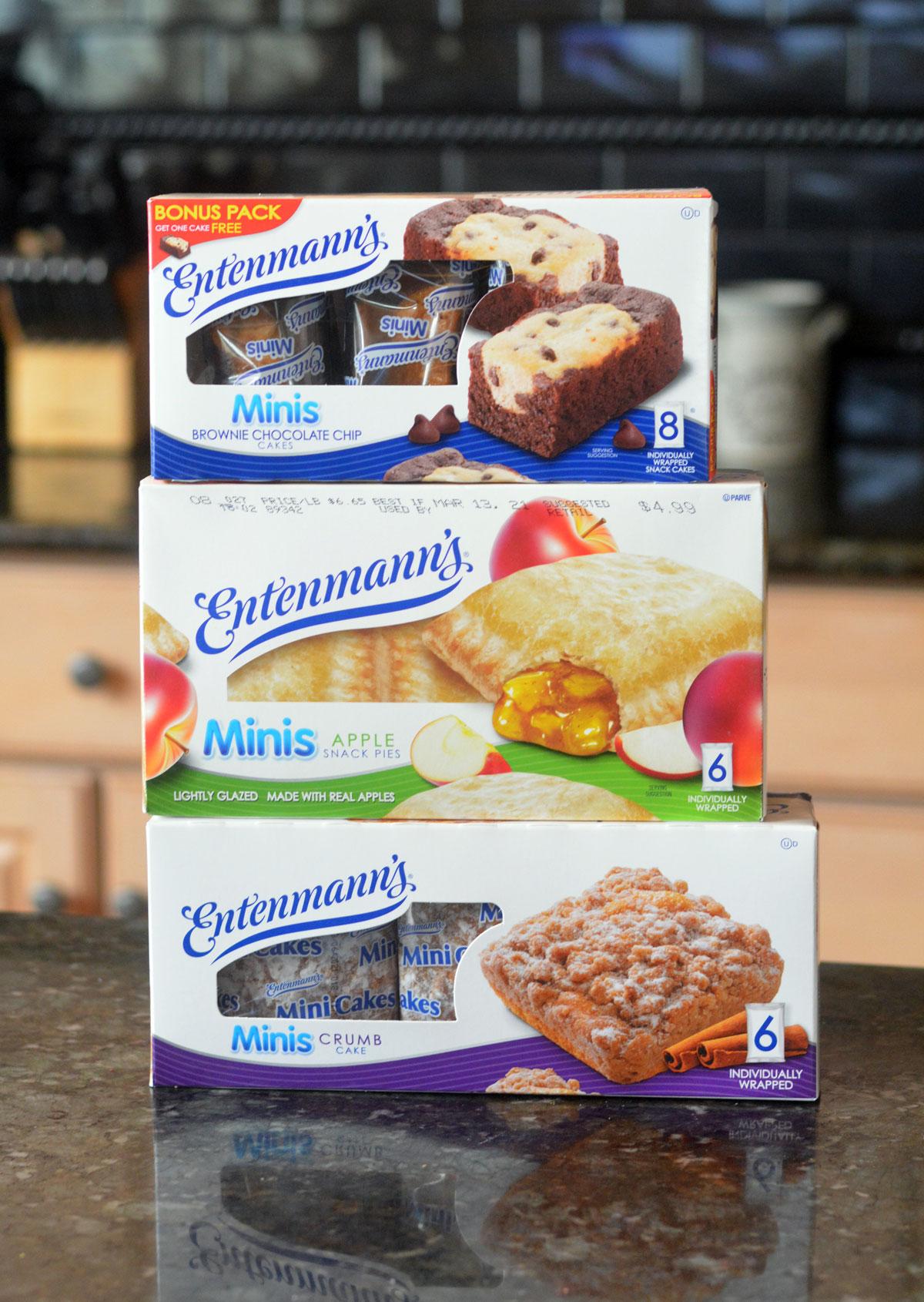 3 boxes of Entenmann's Mini Snacks