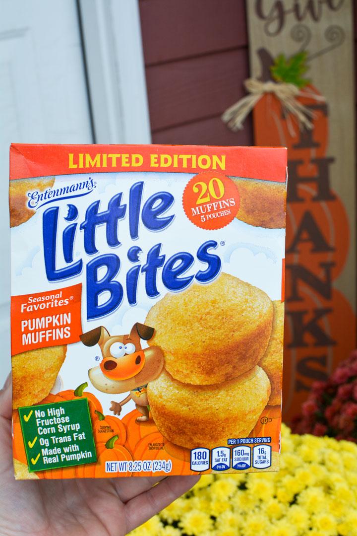 little bites pumpkin muffins box
